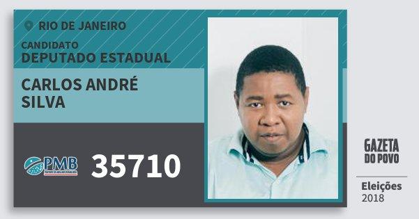 Santinho Carlos André Silva 35710 (PMB) Deputado Estadual | Rio de Janeiro | Eleições 2018