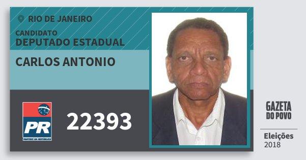 Santinho Carlos Antonio 22393 (PR) Deputado Estadual | Rio de Janeiro | Eleições 2018