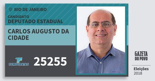 Santinho Carlos Augusto da Cidade 25255 (DEM) Deputado Estadual | Rio de Janeiro | Eleições 2018