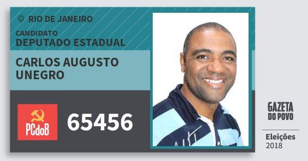 Santinho Carlos Augusto Unegro 65456 (PC do B) Deputado Estadual | Rio de Janeiro | Eleições 2018