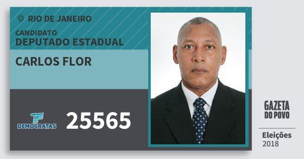 Santinho Carlos Flor 25565 (DEM) Deputado Estadual | Rio de Janeiro | Eleições 2018