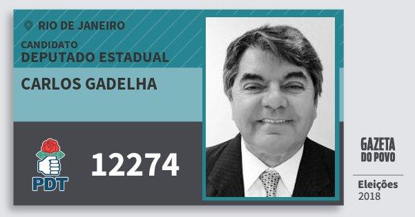 Santinho Carlos Gadelha 12274 (PDT) Deputado Estadual | Rio de Janeiro | Eleições 2018