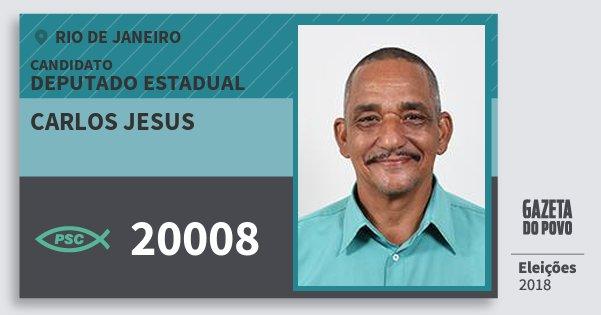 Santinho Carlos Jesus 20008 (PSC) Deputado Estadual | Rio de Janeiro | Eleições 2018