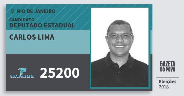 Santinho Carlos Lima 25200 (DEM) Deputado Estadual | Rio de Janeiro | Eleições 2018