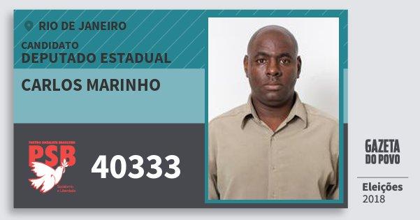 Santinho Carlos Marinho 40333 (PSB) Deputado Estadual | Rio de Janeiro | Eleições 2018