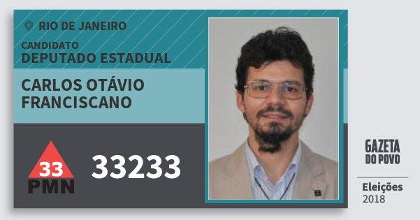 Santinho Carlos Otávio Franciscano 33233 (PMN) Deputado Estadual | Rio de Janeiro | Eleições 2018