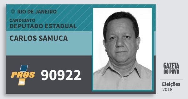 Santinho Carlos Samuca 90922 (PROS) Deputado Estadual | Rio de Janeiro | Eleições 2018