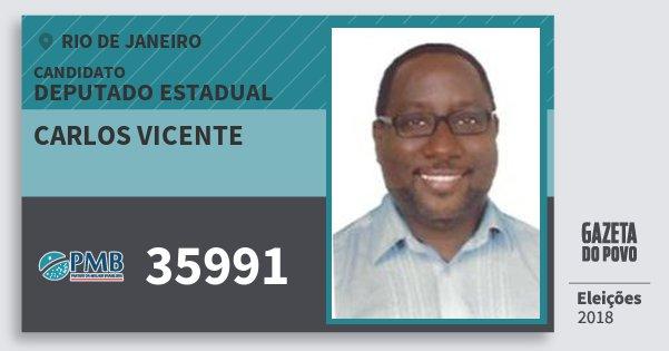 Santinho Carlos Vicente 35991 (PMB) Deputado Estadual | Rio de Janeiro | Eleições 2018