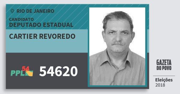 Santinho Cartier Revoredo 54620 (PPL) Deputado Estadual | Rio de Janeiro | Eleições 2018