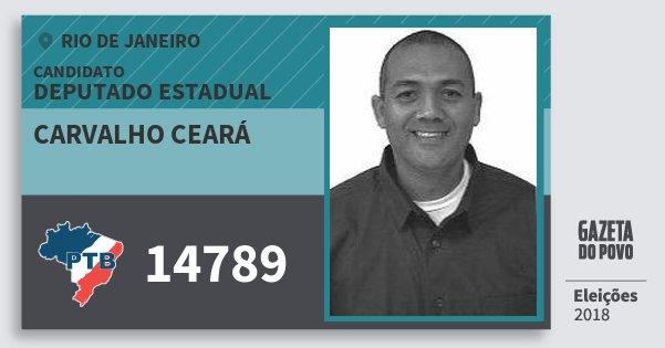Santinho Carvalho Ceará 14789 (PTB) Deputado Estadual | Rio de Janeiro | Eleições 2018