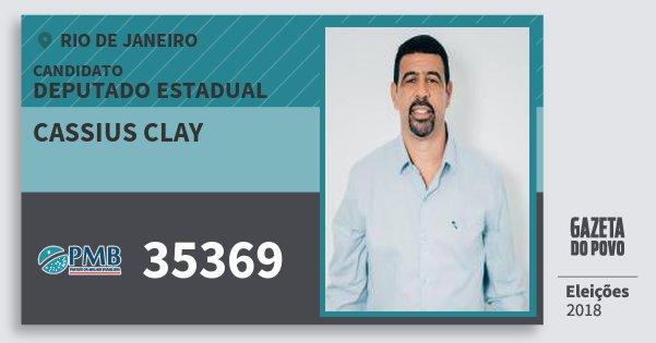 Santinho Cassius Clay 35369 (PMB) Deputado Estadual | Rio de Janeiro | Eleições 2018