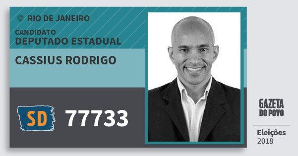 Santinho Cassius Rodrigo 77733 (SOLIDARIEDADE) Deputado Estadual | Rio de Janeiro | Eleições 2018