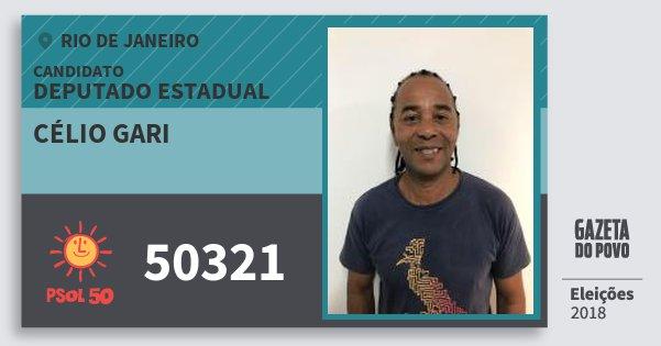 Santinho Célio Gari 50321 (PSOL) Deputado Estadual | Rio de Janeiro | Eleições 2018