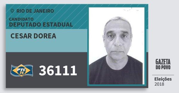 Santinho Cesar Dorea 36111 (PTC) Deputado Estadual | Rio de Janeiro | Eleições 2018
