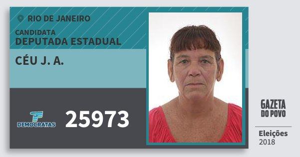 Santinho Céu J. A. 25973 (DEM) Deputada Estadual | Rio de Janeiro | Eleições 2018