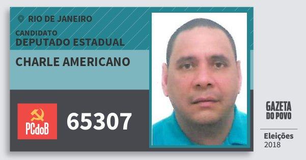 Santinho Charle Americano 65307 (PC do B) Deputado Estadual | Rio de Janeiro | Eleições 2018