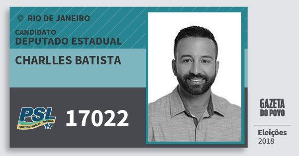 Santinho Charlles Batista 17022 (PSL) Deputado Estadual | Rio de Janeiro | Eleições 2018