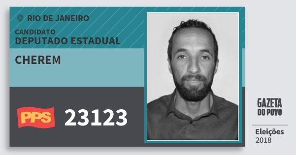 Santinho Cherem 23123 (PPS) Deputado Estadual | Rio de Janeiro | Eleições 2018