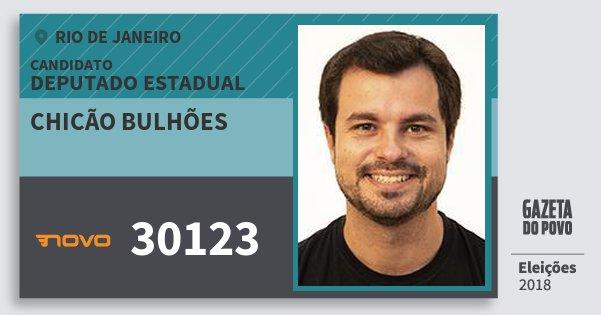 Santinho Chicão Bulhões 30123 (NOVO) Deputado Estadual | Rio de Janeiro | Eleições 2018