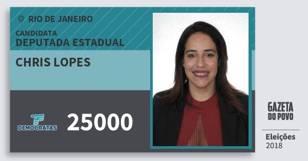 Santinho Chris Lopes 25000 (DEM) Deputada Estadual | Rio de Janeiro | Eleições 2018