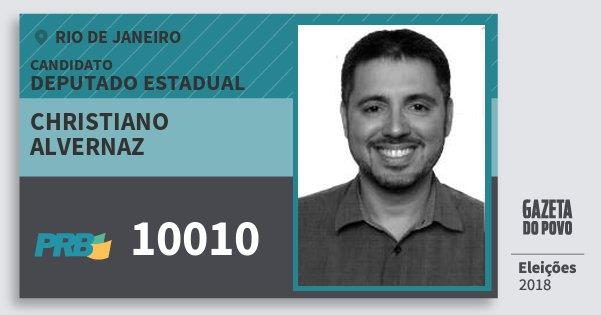 Santinho Christiano Alvernaz 10010 (PRB) Deputado Estadual | Rio de Janeiro | Eleições 2018