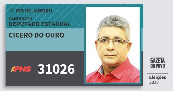 Santinho Cicero do Ouro 31026 (PHS) Deputado Estadual | Rio de Janeiro | Eleições 2018