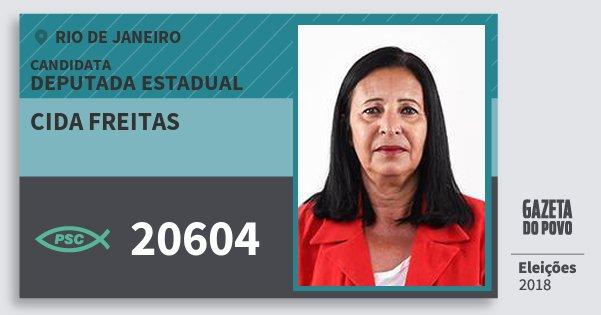Santinho Cida Freitas 20604 (PSC) Deputada Estadual | Rio de Janeiro | Eleições 2018