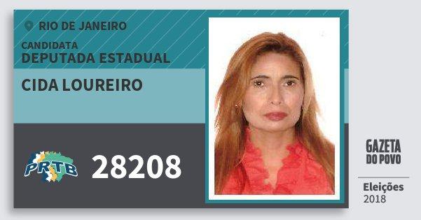 Santinho Cida Loureiro 28208 (PRTB) Deputada Estadual | Rio de Janeiro | Eleições 2018