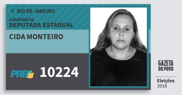Santinho Cida Monteiro 10224 (PRB) Deputada Estadual | Rio de Janeiro | Eleições 2018