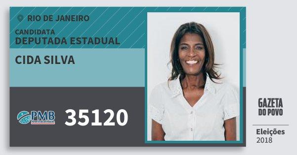 Santinho Cida Silva 35120 (PMB) Deputada Estadual | Rio de Janeiro | Eleições 2018
