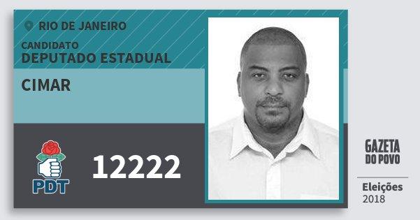 Santinho Cimar 12222 (PDT) Deputado Estadual | Rio de Janeiro | Eleições 2018