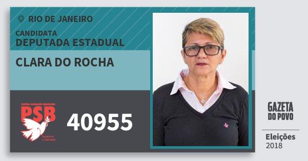 Santinho Clara do Rocha 40955 (PSB) Deputada Estadual | Rio de Janeiro | Eleições 2018