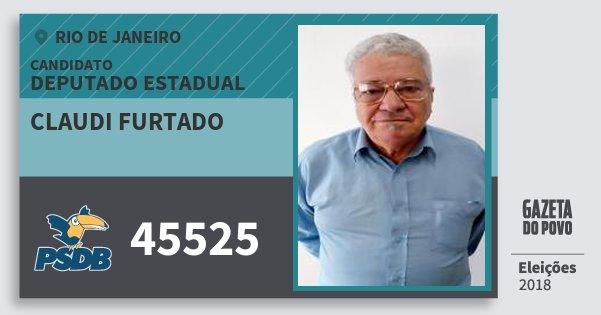 Santinho Claudi Furtado 45525 (PSDB) Deputado Estadual | Rio de Janeiro | Eleições 2018