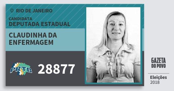 Santinho Claudinha da Enfermagem 28877 (PRTB) Deputada Estadual | Rio de Janeiro | Eleições 2018