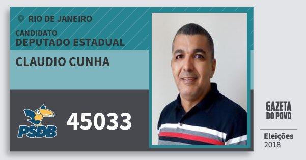 Santinho Claudio Cunha 45033 (PSDB) Deputado Estadual | Rio de Janeiro | Eleições 2018