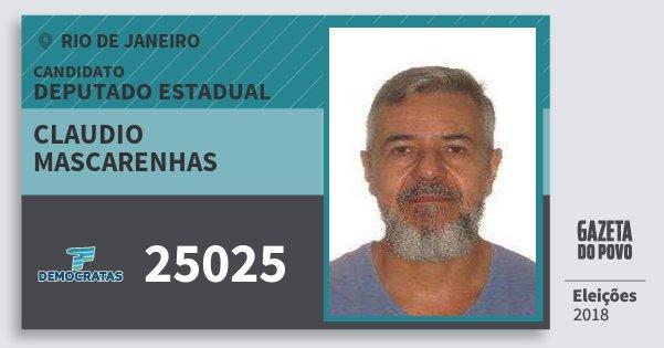 Santinho Claudio Mascarenhas 25025 (DEM) Deputado Estadual | Rio de Janeiro | Eleições 2018