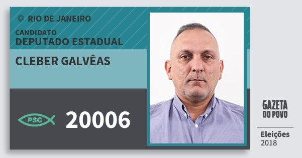 Santinho Cleber Galvêas 20006 (PSC) Deputado Estadual | Rio de Janeiro | Eleições 2018