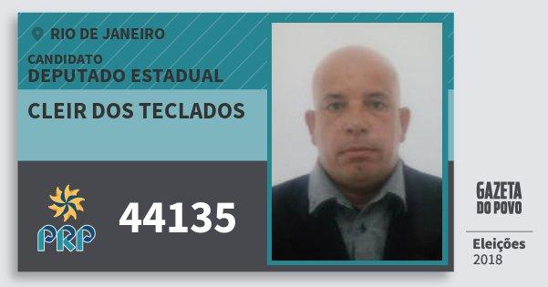 Santinho Cleir dos Teclados 44135 (PRP) Deputado Estadual | Rio de Janeiro | Eleições 2018