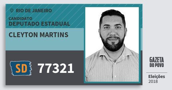 Santinho Cleyton Martins 77321 (SOLIDARIEDADE) Deputado Estadual | Rio de Janeiro | Eleições 2018
