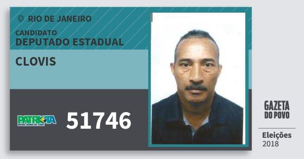 Santinho Clovis 51746 (PATRI) Deputado Estadual | Rio de Janeiro | Eleições 2018