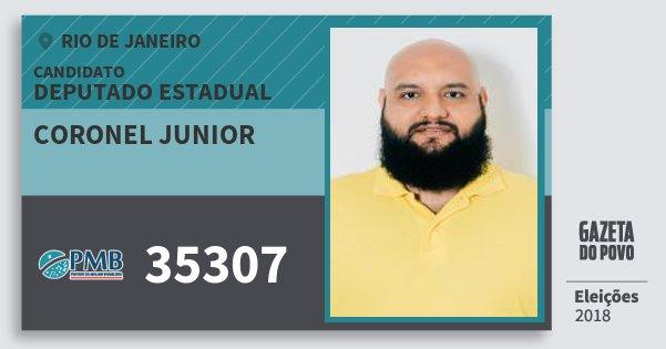 Santinho Coronel Junior 35307 (PMB) Deputado Estadual | Rio de Janeiro | Eleições 2018