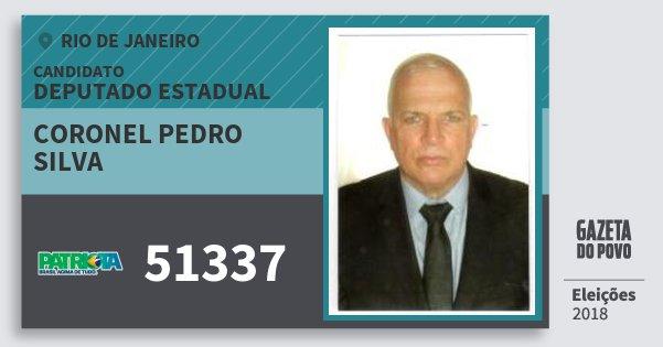 Santinho Coronel Pedro Silva 51337 (PATRI) Deputado Estadual | Rio de Janeiro | Eleições 2018