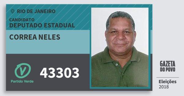 Santinho Correa Neles 43303 (PV) Deputado Estadual | Rio de Janeiro | Eleições 2018