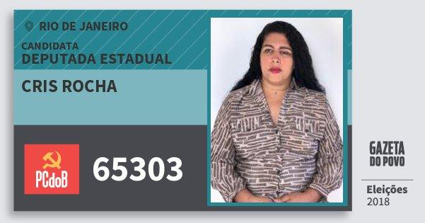 Santinho Cris Rocha 65303 (PC do B) Deputada Estadual | Rio de Janeiro | Eleições 2018