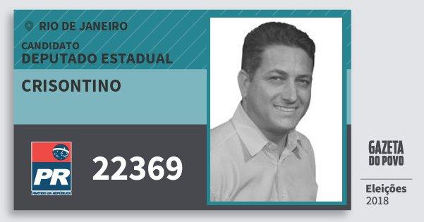 Santinho Crisontino 22369 (PR) Deputado Estadual | Rio de Janeiro | Eleições 2018