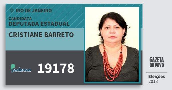 Santinho Cristiane Barreto 19178 (PODE) Deputada Estadual | Rio de Janeiro | Eleições 2018
