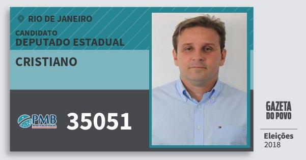 Santinho Cristiano 35051 (PMB) Deputado Estadual | Rio de Janeiro | Eleições 2018