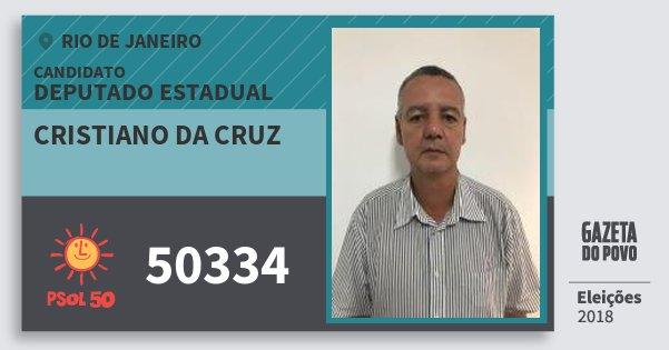 Santinho Cristiano da Cruz 50334 (PSOL) Deputado Estadual | Rio de Janeiro | Eleições 2018