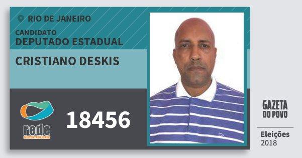Santinho Cristiano Deskis 18456 (REDE) Deputado Estadual | Rio de Janeiro | Eleições 2018