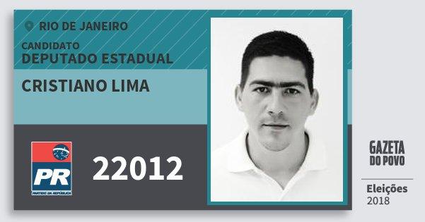 Santinho Cristiano Lima 22012 (PR) Deputado Estadual | Rio de Janeiro | Eleições 2018